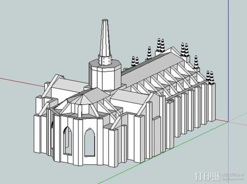 米兰大教堂 3D模型  图6