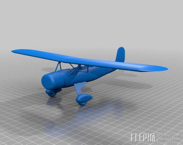 Fairchild 22 飞机 3D模型  图1