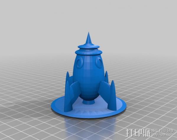 迷你火箭 3D模型  图1