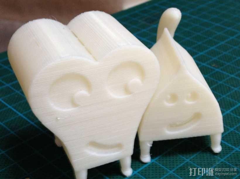 Pushpaw & Pupshaw  玩偶 3D模型  图2