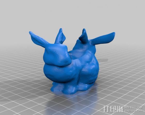 双头兔子 3D模型  图1