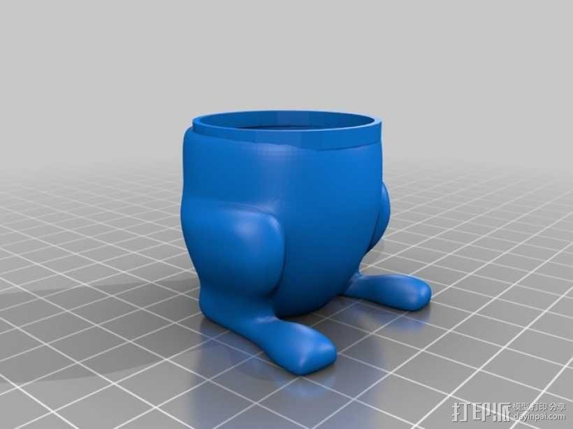 兔子 杯子 3D模型  图1