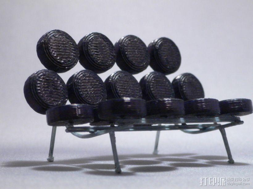 棉花糖沙发 3D模型  图1