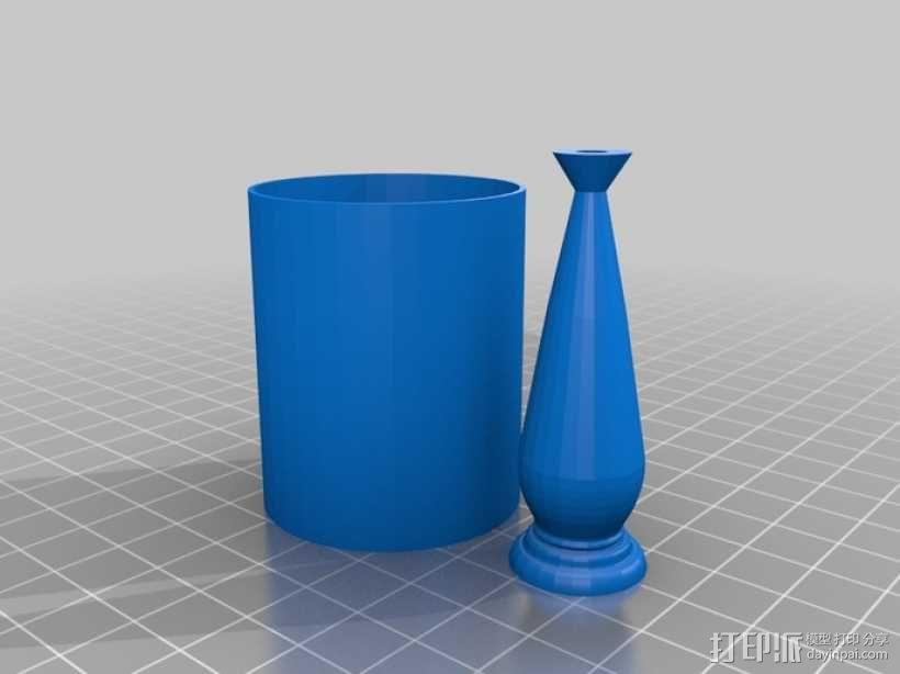 六十年代 台灯 3D模型  图1