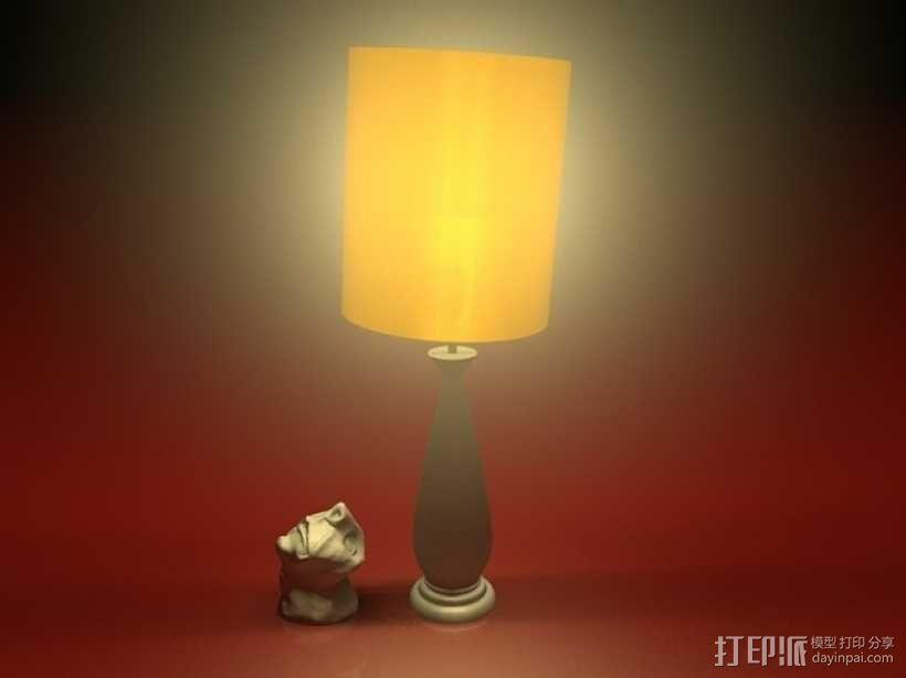六十年代 台灯 3D模型  图4