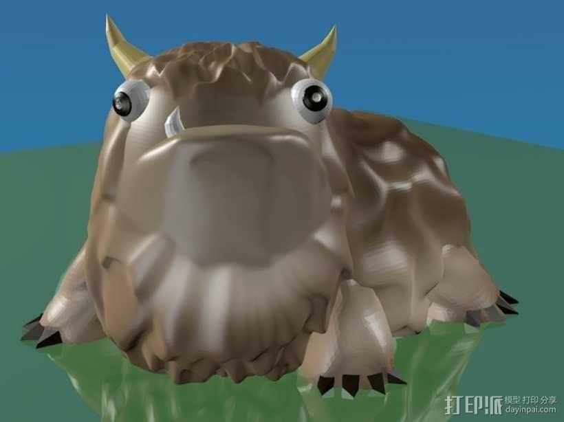 Alot 小怪兽 3D模型  图1