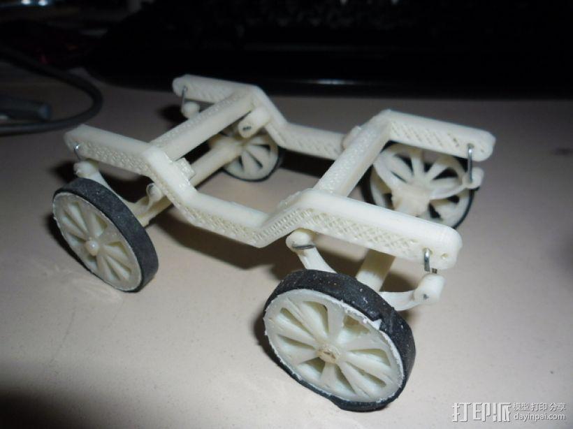 汽车钢板弹簧框架 3D模型  图1