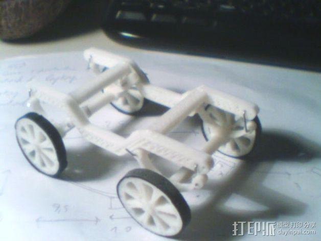 汽车钢板弹簧框架 3D模型  图2