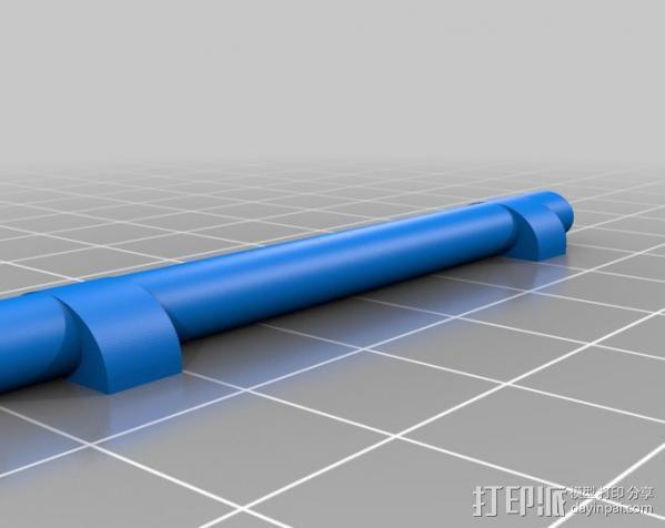 汽车钢板弹簧框架 3D模型  图3