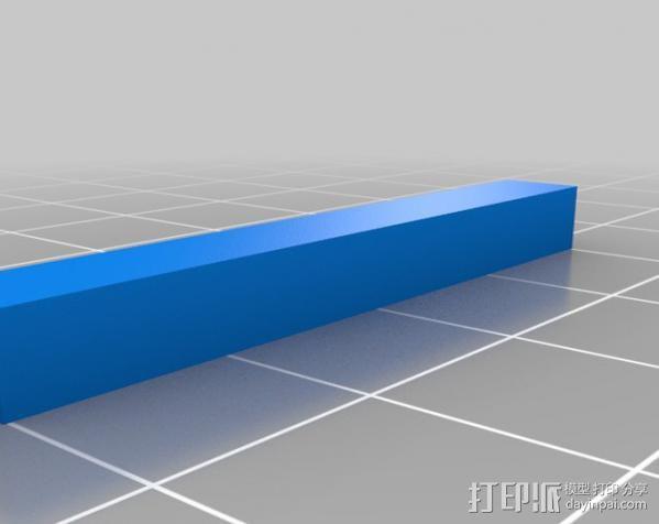 汽车钢板弹簧框架 3D模型  图4