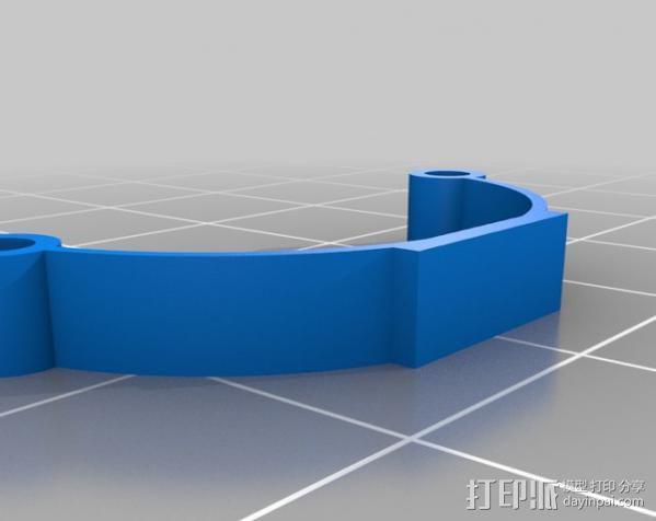 汽车钢板弹簧框架 3D模型  图6