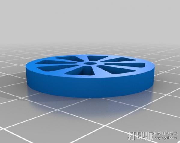 汽车钢板弹簧框架 3D模型  图8