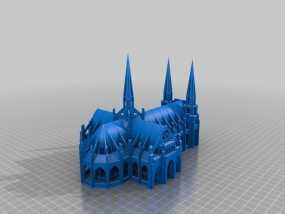 哥特式大教堂 3D模型