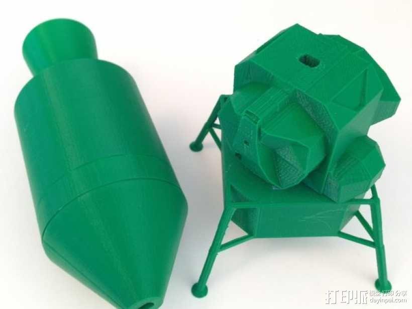 阿波罗计划:载人飞船 3D模型  图1