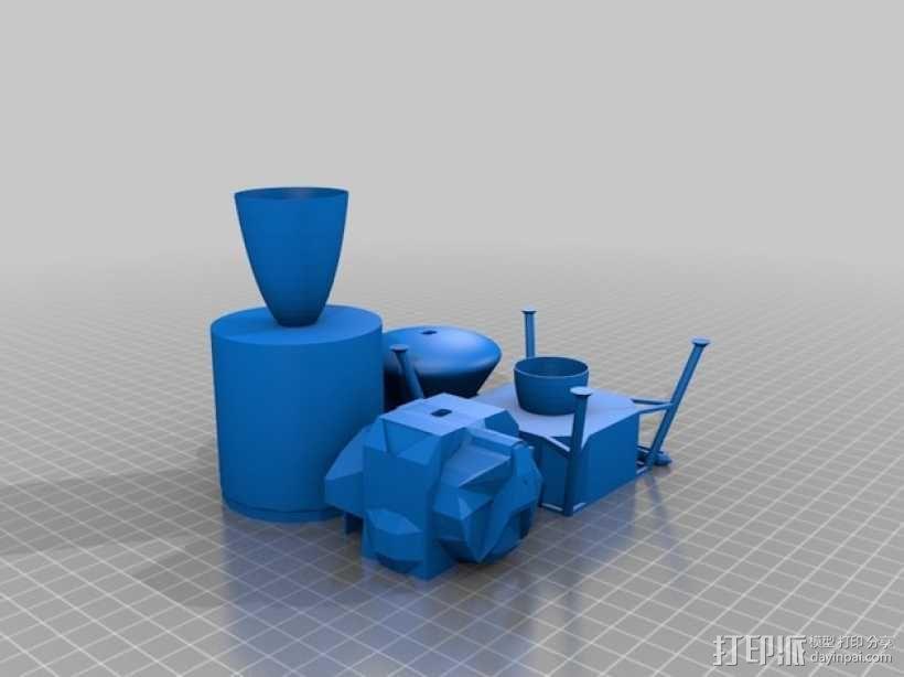 阿波罗计划:载人飞船 3D模型  图11