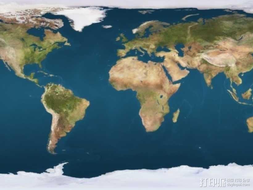 地球 地形图 3D模型  图2