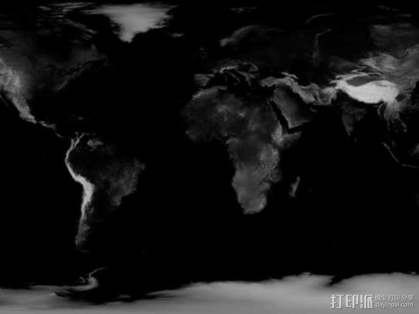 地球 地形图 3D模型  图3