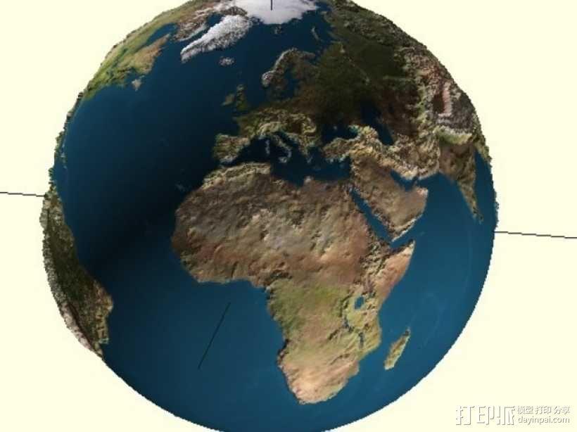 地球 地形图 3D模型  图1