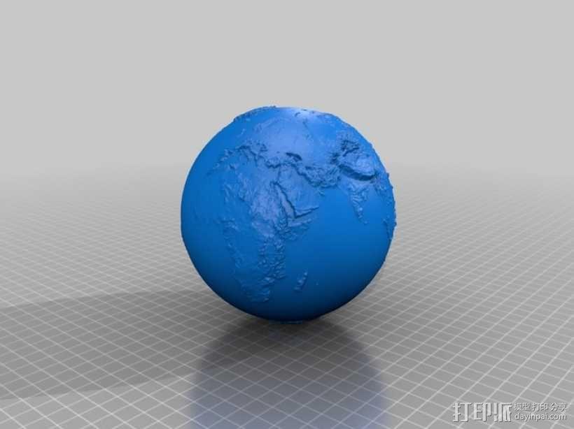 地球 地形图 3D模型  图4