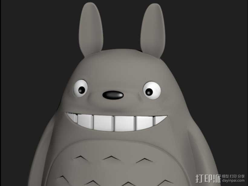 龙猫 3D模型  图1