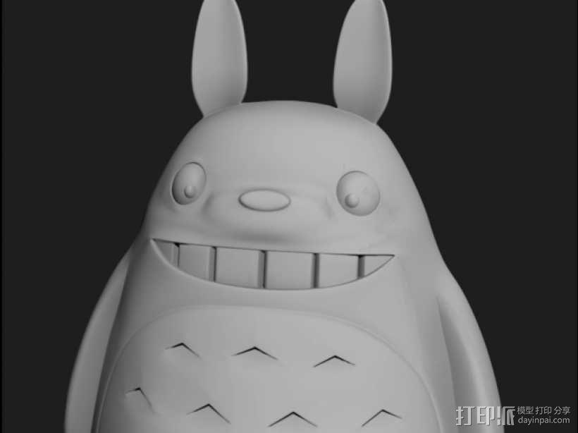 龙猫 3D模型  图2