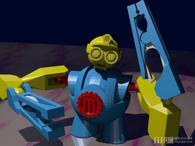 Makerbot机器人 3D模型  图3