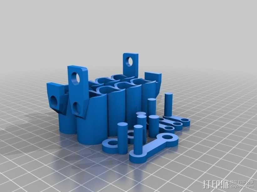 v8发动机 3D模型  图4