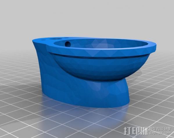 迷你马桶 3D模型  图2