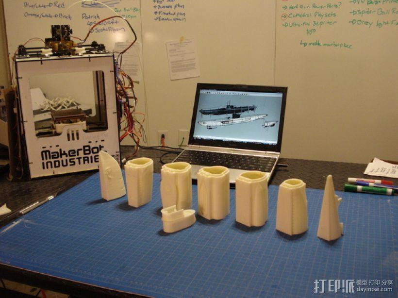 U型潜水艇 3D模型  图2