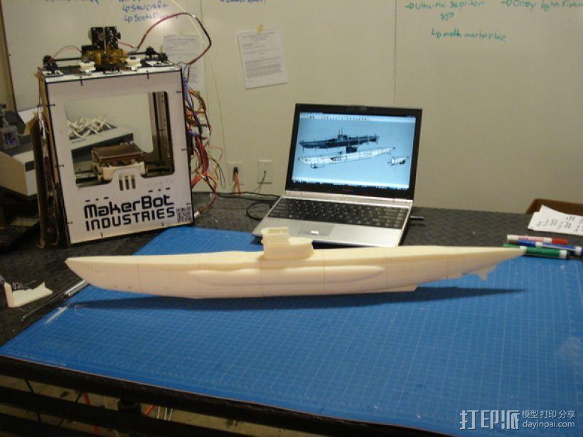 U型潜水艇 3D模型  图1