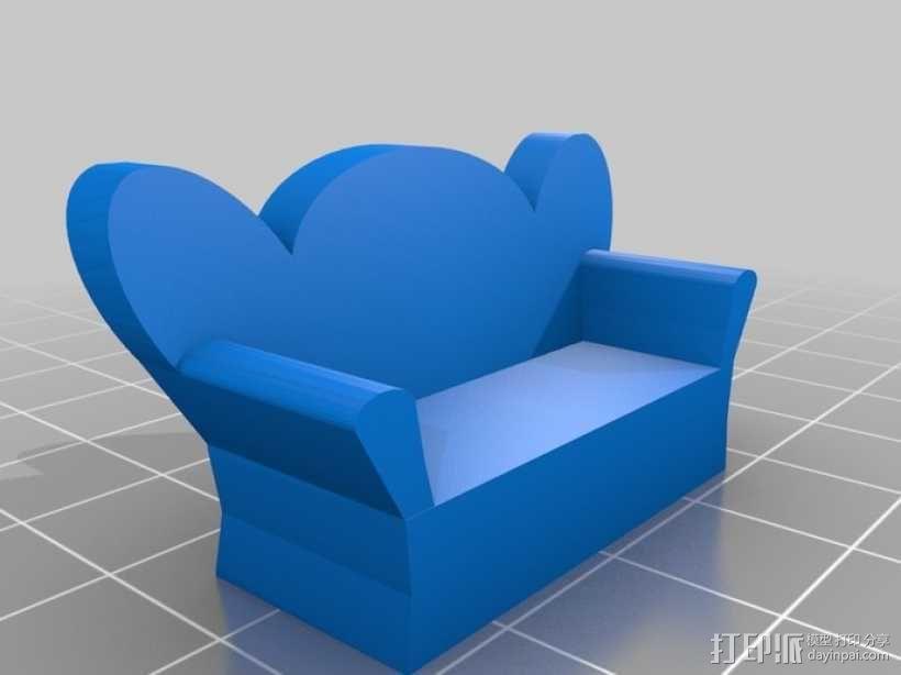 沙发 3D模型  图1