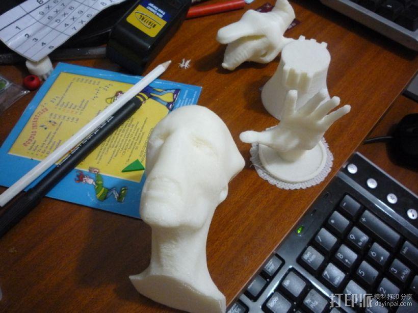 外星人头像 3D模型  图2