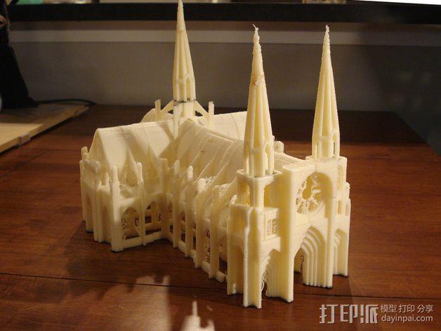 哥特式大教堂 3D模型  图4