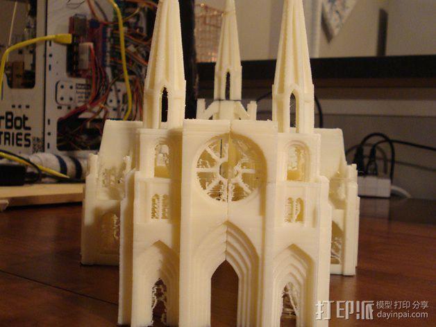 哥特式大教堂 3D模型  图3