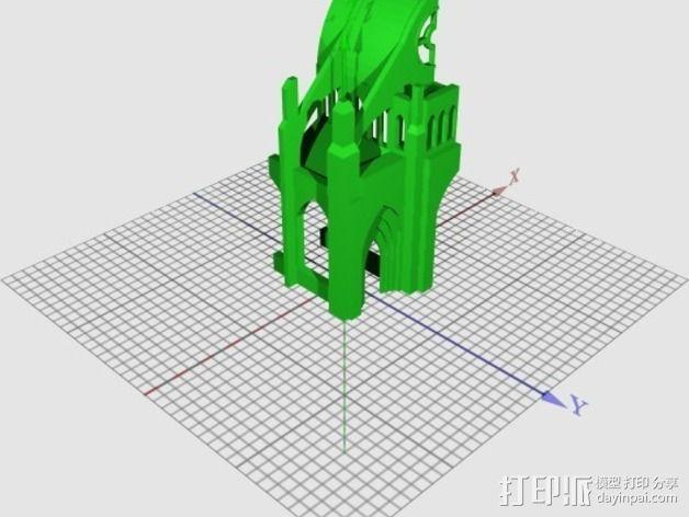哥特式大教堂 3D模型  图10