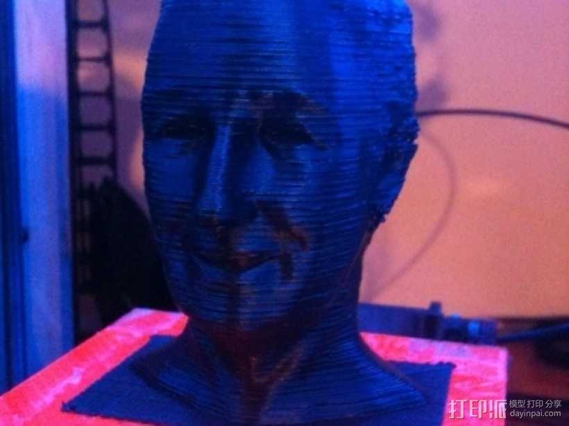 沃特·迪斯尼 头像 3D模型  图1