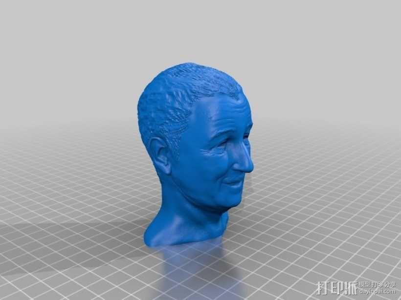 沃特·迪斯尼 头像 3D模型  图5