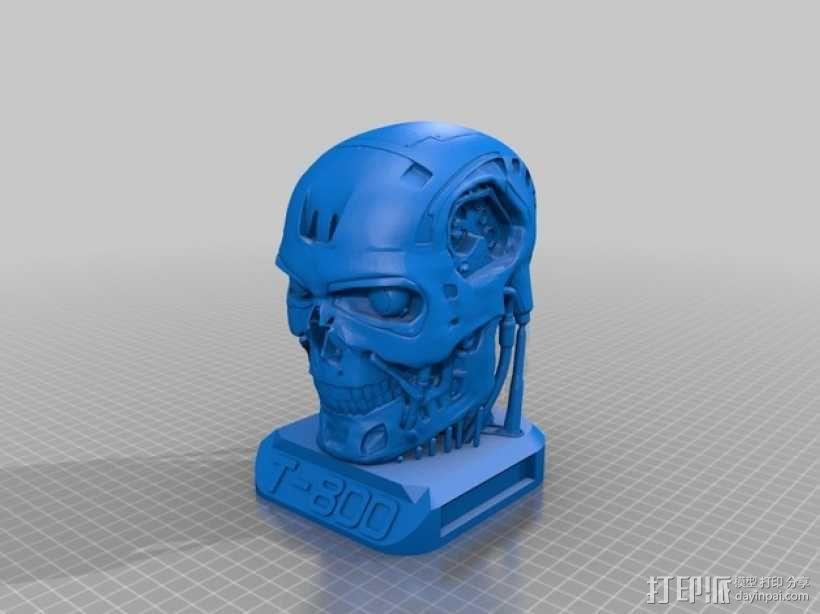 电影《终结者》 T800机器人头像 3D模型  图3