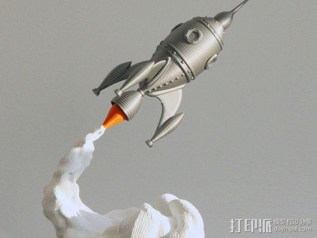 火箭船 3D模型  图1