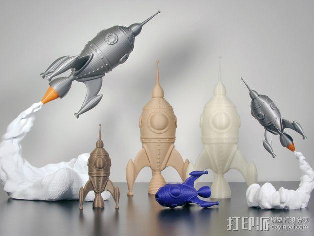 火箭船 3D模型  图2
