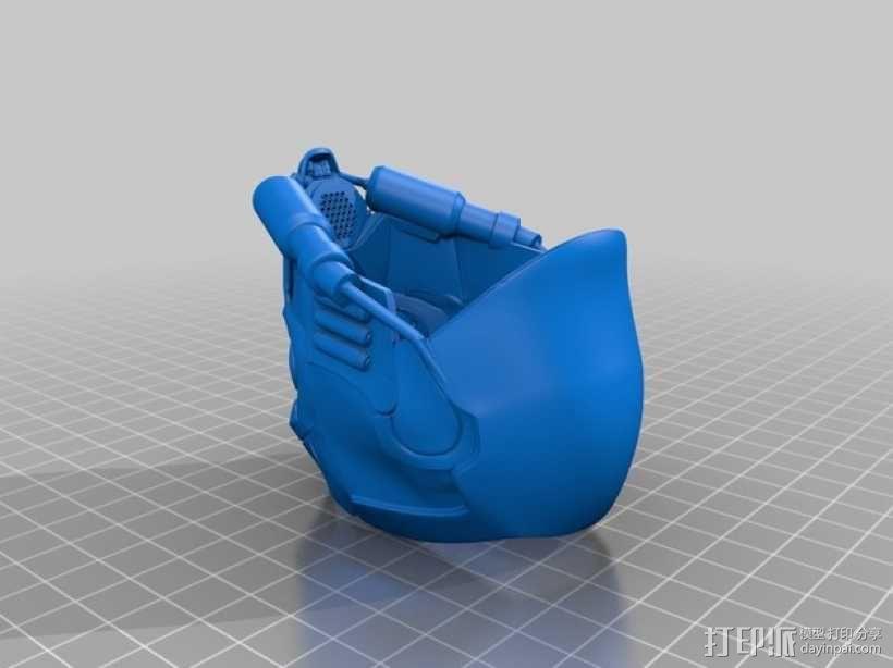 星爵 头盔 3D模型  图2