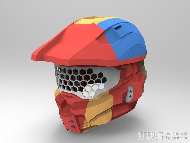 《光晕(halo)》头盔 3D模型  图8