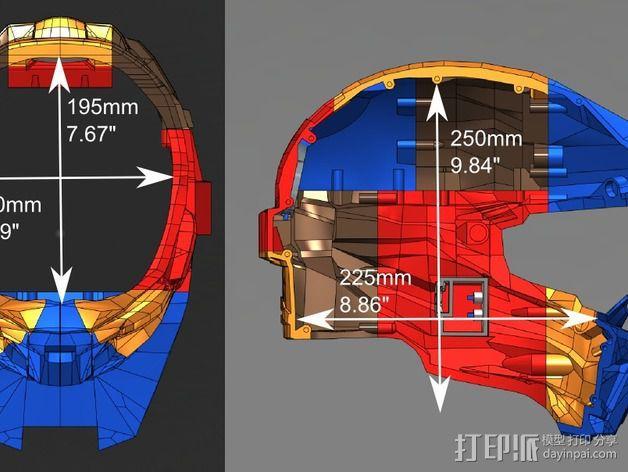 《光晕(halo)》头盔 3D模型  图16