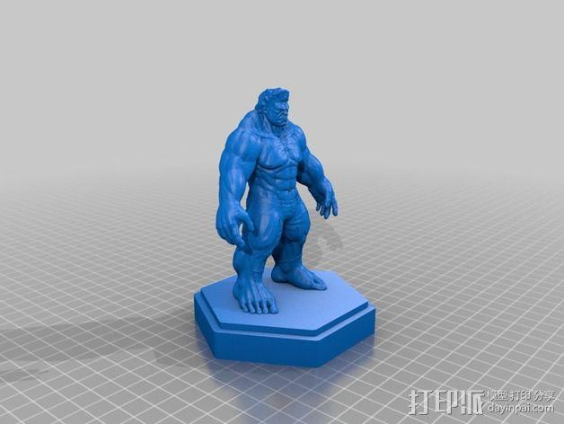 绿巨人浩克 Hulk 3D模型  图2