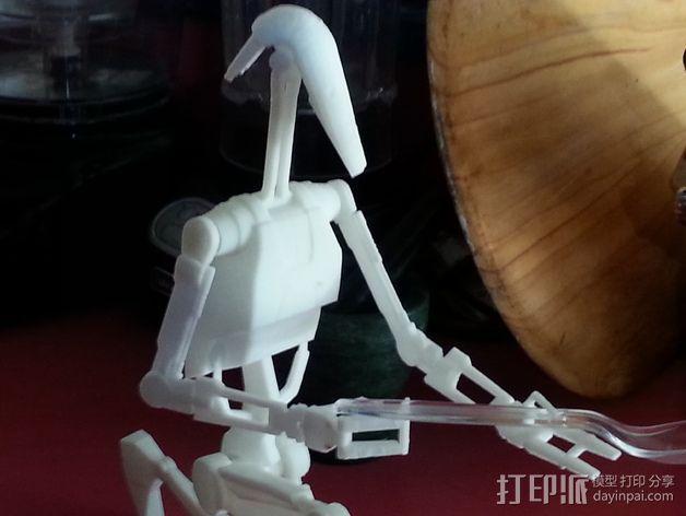 《星球大战》B1战斗机器人 3D模型  图4