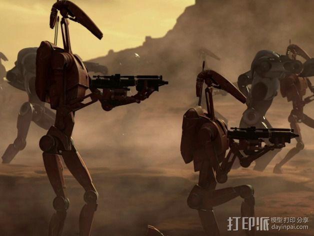 《星球大战》B1战斗机器人 3D模型  图5