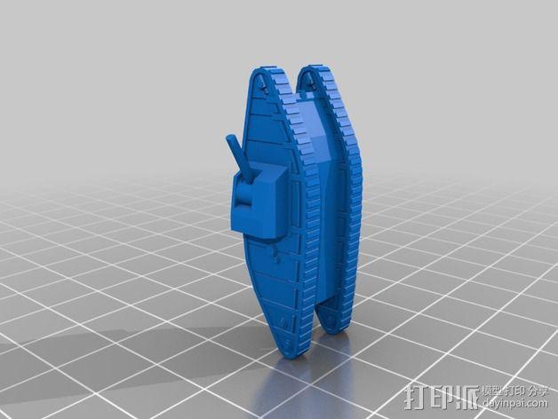 一战坦克 3D模型  图2