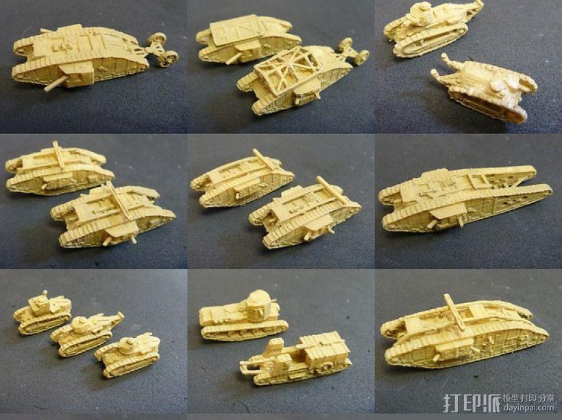 一战坦克 3D模型  图1