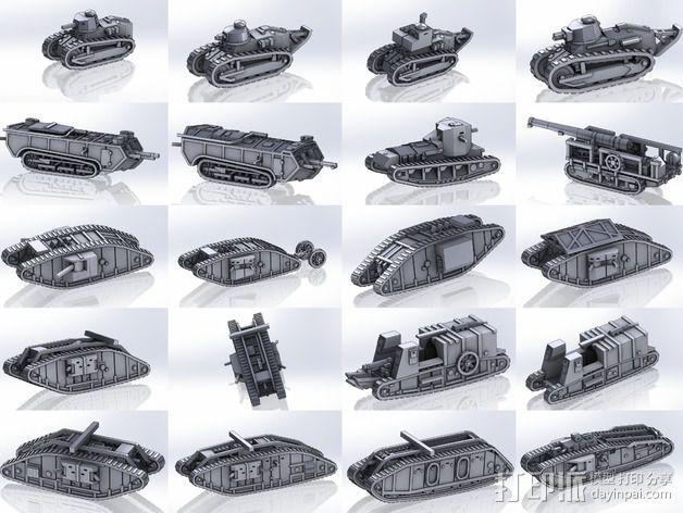 一战坦克 3D模型  图3