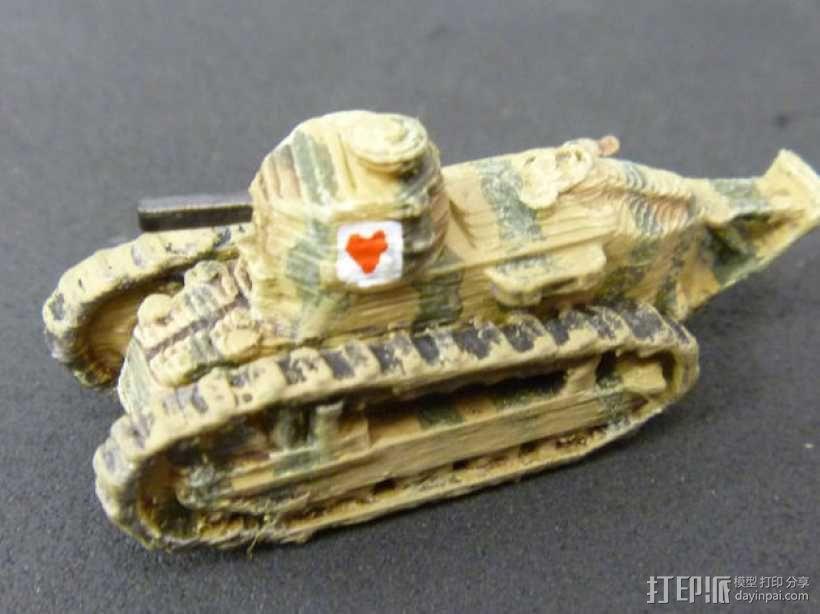 一战坦克 3D模型  图6